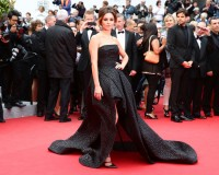 Cheryl Cole wears Monique Lhuillier for her Cannes Film Festival arrival