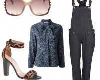 2 ways to wear River Island's dark wash dungarees