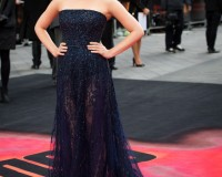 Elizabeth Olsen sparkles in Elie Saab Couture for Godzilla London premiere