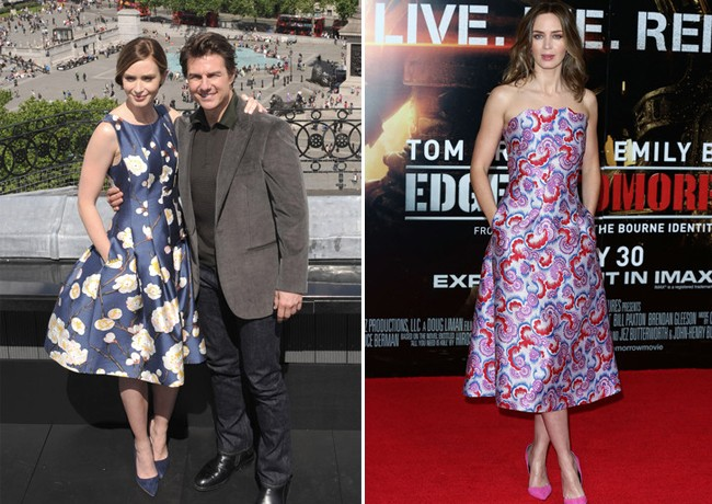 Emily Blunt rocks the florals for Edge of Tomorrow London promos