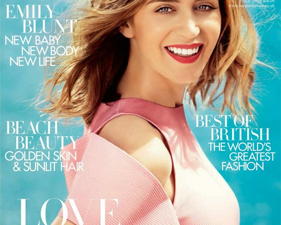 Emily Blunt covers Harper's Bazaar's July issue