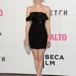 Emma Roberts smoulders in Saint Laurent