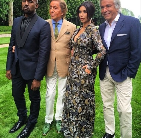 Valentino hosts wedding brunch for Kim and Kanye!
