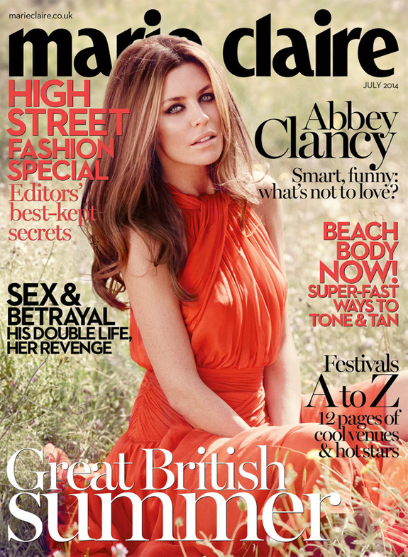 Abbey Clancy stuns on Marie Claire UK July cover