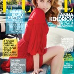Anna Kendrick smoulders in red for Elle US July cover