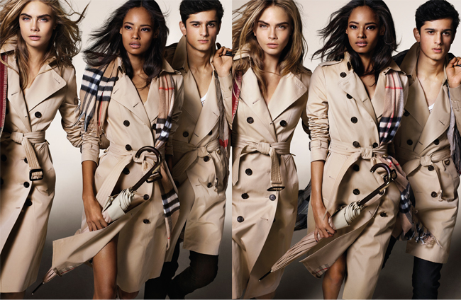 Cara Delevingne, Suki Waterhouse and more Brits for Burberry's autumn/winter 2014 ad campaign
