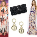 Get Carrie Underwood's floral print maxi dress look