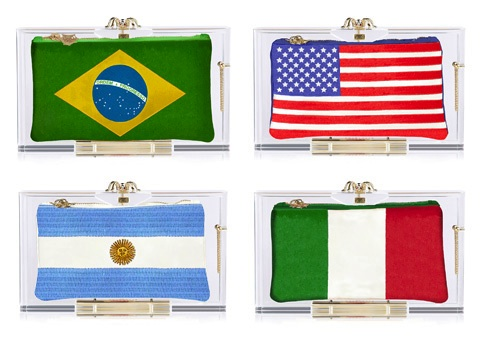 charlotte olympia world cup clutch bags