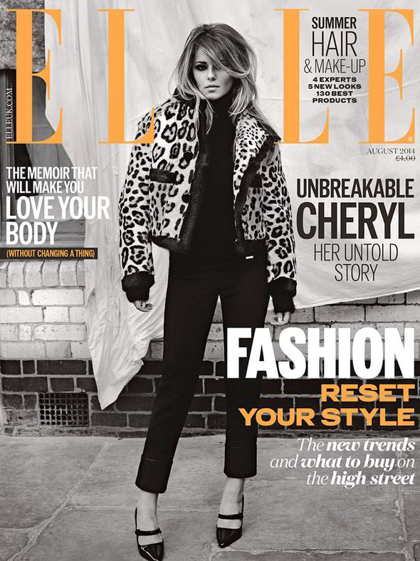 cheryl cole elle uk august
