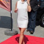 Cheryl Cole is all white in Stella McCartney dress