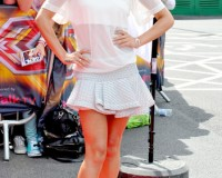 Cheryl Cole is cute in white for first day of X Factor auditions