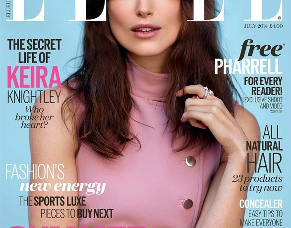 Keira Knightley is 70s chic in Gucci for Elle UK July cover