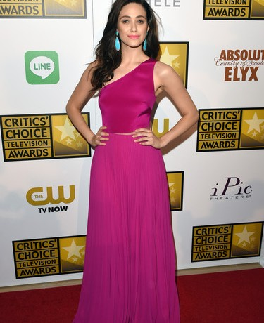 Emmy Rossum is utter perfection in Monique Lhuillier for Critics' Choice TV Awards
