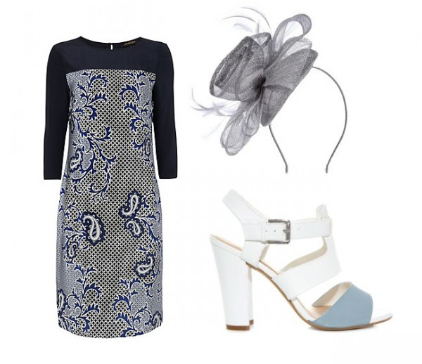 2 ways to wear the Precis Petite Rose fascinator