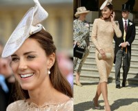 Kate Middleton recycles Alexander McQueen dress for Buckingham Palace Garden Party
