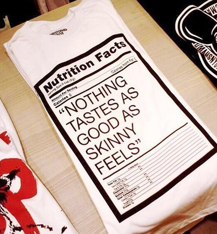 "Kate Moss ""nothing tastes as good as skinny feels"" T-shirt causes controversy"