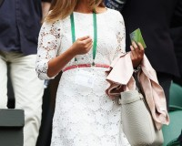Kim Sears gets into the Wimbledon spirit in white Reiss dress