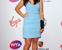Laura Robson is all smiles in Preen at WTA Pre-Wimbledon Party
