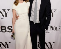 Leighton Meester and new hubby Adam Brody hit the Tony Awards red carpet