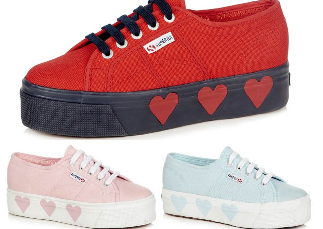 Suki Waterhouse designs flatforms for Superga!