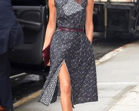 "Victoria Beckham ""wraps up"" in NYC"