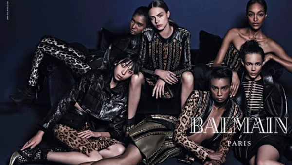 The six models who replaced Rihanna in the new Balmain ad campaign…