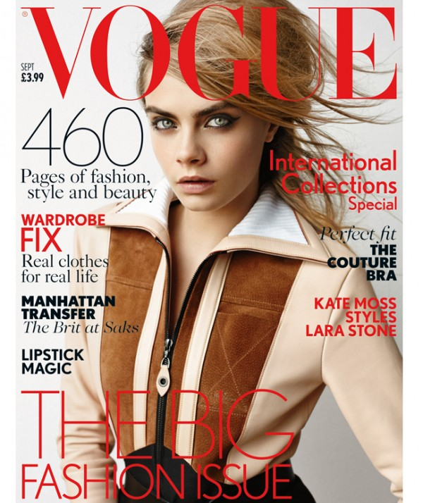 Cara Delevingne is British Vogue's September cover star… and she's wearing Louis Vuitton