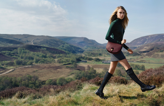 cara delevingne mulberry aw14 ad