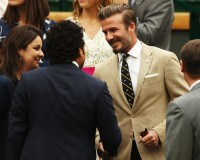 David Beckham is devilishly handsome in Ralph Lauren