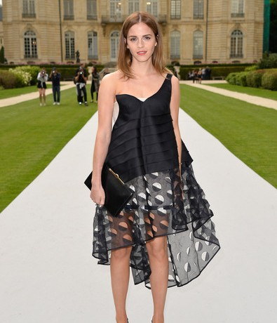 Emma Watson has the wow factor on Christian Dior Couture AW14 front row