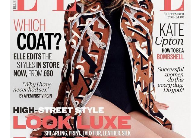 Kate Upton lands Elle UK September issue cover!