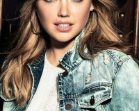 Kate Upton is the new face of Express jeans, loves double white denim