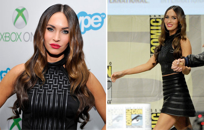 Megan Fox dons all-black David Koma ensemble for Comic Con 2014