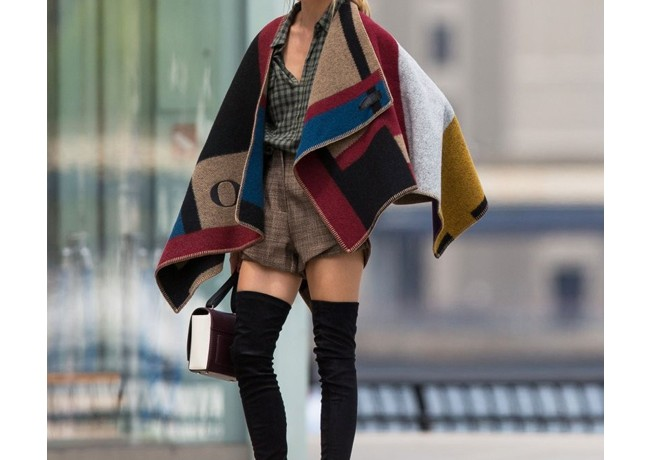 Olivia Palermo is the latest star to rock Burberry's personalised poncho