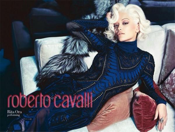 Rita Ora wows in Roberto Cavalli AW14 ad campaign