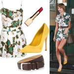 Get Taylor Swift's printed Topshop romper look