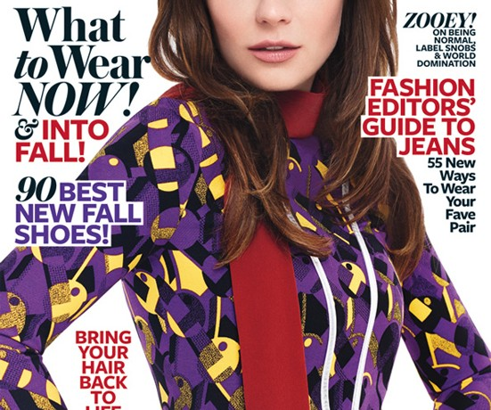 Zooey Deschanel's fans aren't happy with her InStyle US August cover