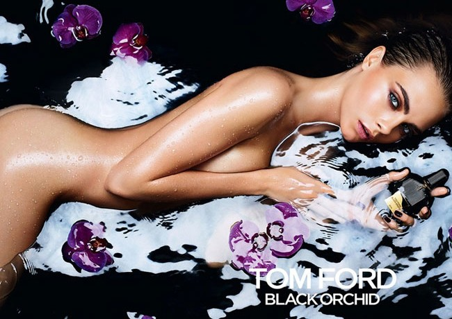 Cara Delevingne poses nude for Tom Ford's Black Orchid