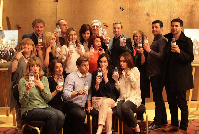 Downton Abbey responds to water-bottle-gate in the best way ever!