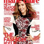 Jessica Alba covers Marie Claire UK's September issue
