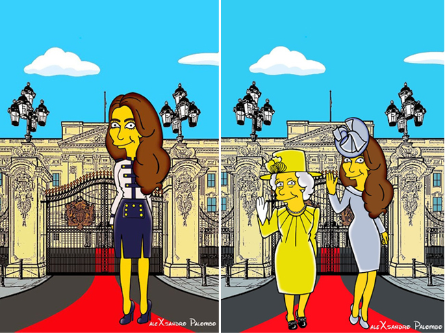 kate-middleton-the-queen-simpsons
