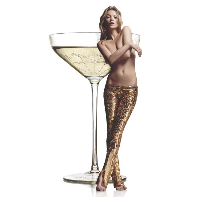 This champagne coupe was modelled on Kate Moss's left breast… no, really!