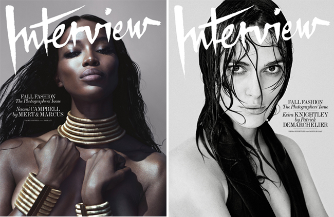 Naomi Campbell and Keira Knightley among Interview's September cover stars!