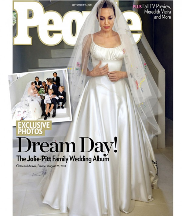 FIRST LOOK at Angelina Jolie's Versace wedding dress!