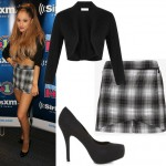 Get Ariana Grande's plaid skirt look