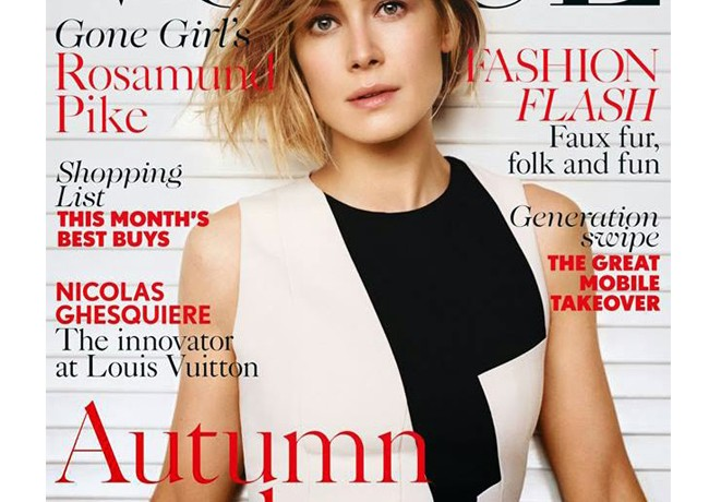 Rosamund Pike covers British Vogue's October issue
