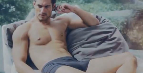 Behind the scenes of David Gandy's M&S ad campaign…