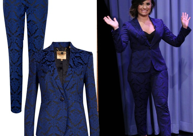 Get Demi Lovato's jacquard Ted Baker look