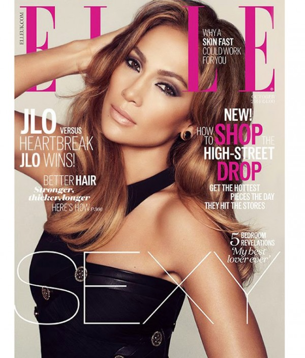 Jennifer Lopez wears Versace for Elle UK October, still believes in love