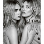 The Kate Moss and Cara Delevingne for My Burberry ad campaign is here!